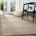 Safavieh Hand-Woven Cape Cod Black/ Natural Jute Rug (3' x 5')
