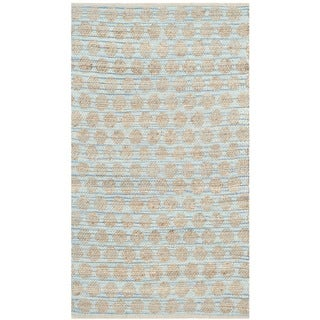Safavieh Hand-Woven Cape Cod Blue/ Natural Jute Rug (3' x 5')