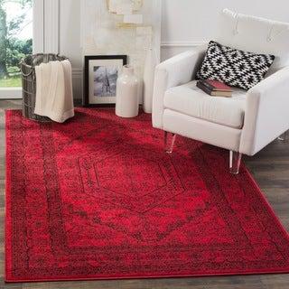 Safavieh Adirondack Red/ Black Rug (8' Square)