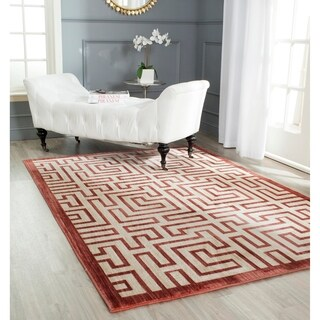 Safavieh Infinity Yellow/ Red Polyester Rug (9' x 12')
