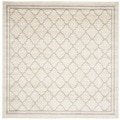 Safavieh Indoor/ Outdoor Amherst Beige/ Light Grey Rug (7' Square)