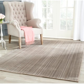 Safavieh Infinity Taupe/ Grey Polyester Rug (4' x 6')