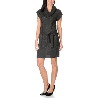 Rabbit Rabbit Rabbit Designs Women's Cable Knit Sweater Dress