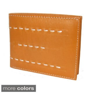 Genuine Cowhide Leather Stiching Design Wallet