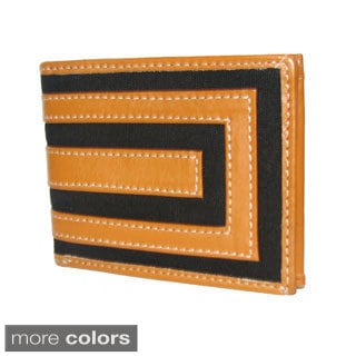 Genuine Cowhide Leather/ Canvas Wallet