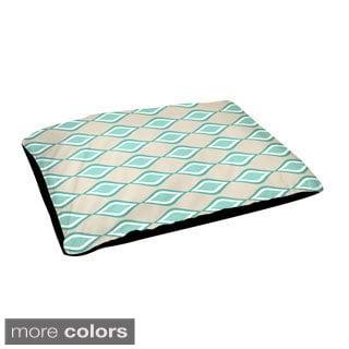 Indoor Geometric Lattice 18 x 28-inch Dog Bed