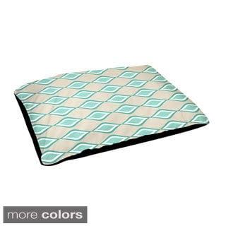 Indoor Geometric Lattice 28 x 48-inch Dog Bed