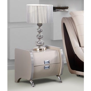 Olivia Brown Contemporary Nightstand