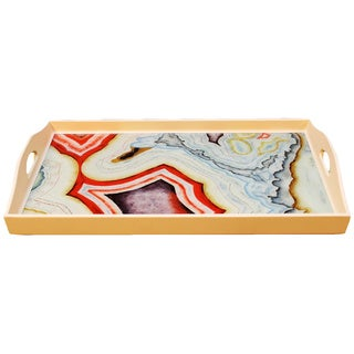 Colorful Marbled Rectangular Tray