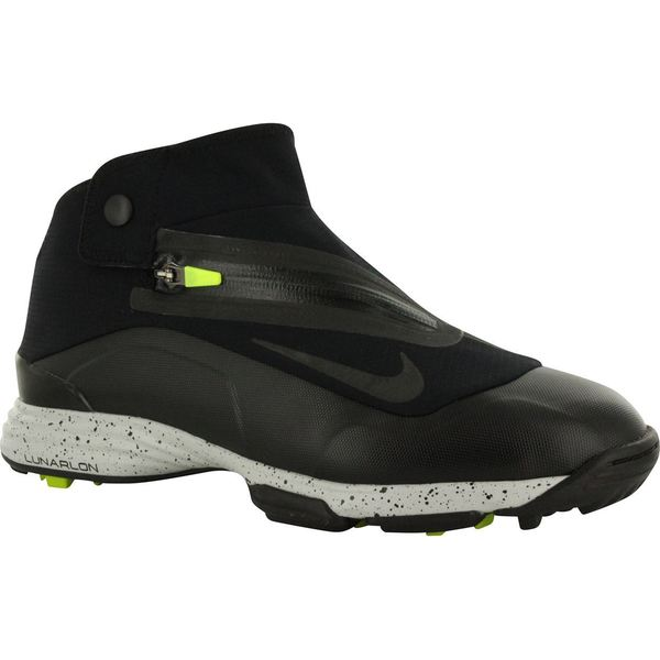 Mens Nike Lunar Bandon II Spikeless Golf Shoes 552072-002 black/volt/black