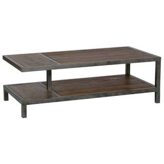Iron/Wood Coffee Table