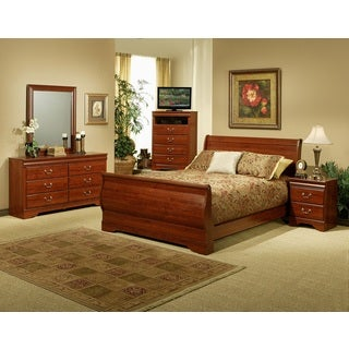 Sandberg Furniture Maurice Cherry Sleigh Bed