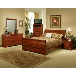 Sandberg Furniture Maurice Cherry Sleigh Bed