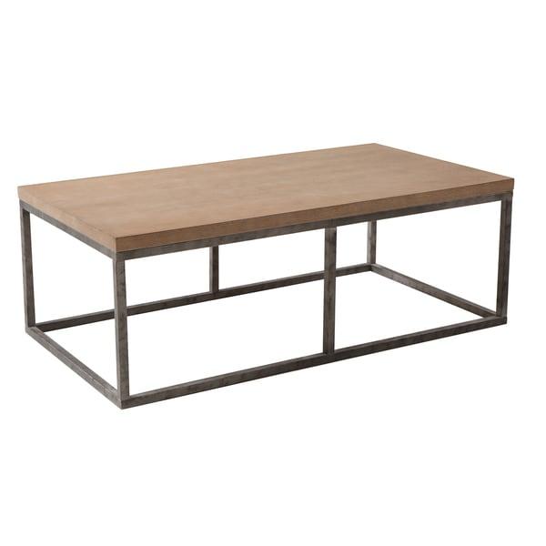 Wood/Iron Coffee Table