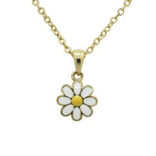 Junior Jewels Enamel Daisy Flower Pendant