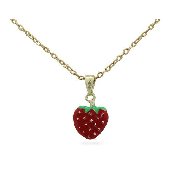 Junior Jewels Enamel Strawberry Pendant 14255782
