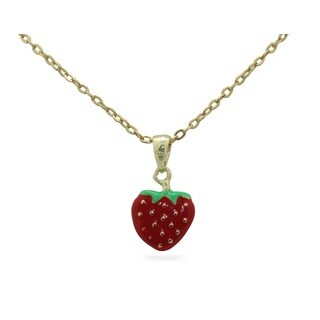 Junior Jewels Enamel Strawberry Pendant