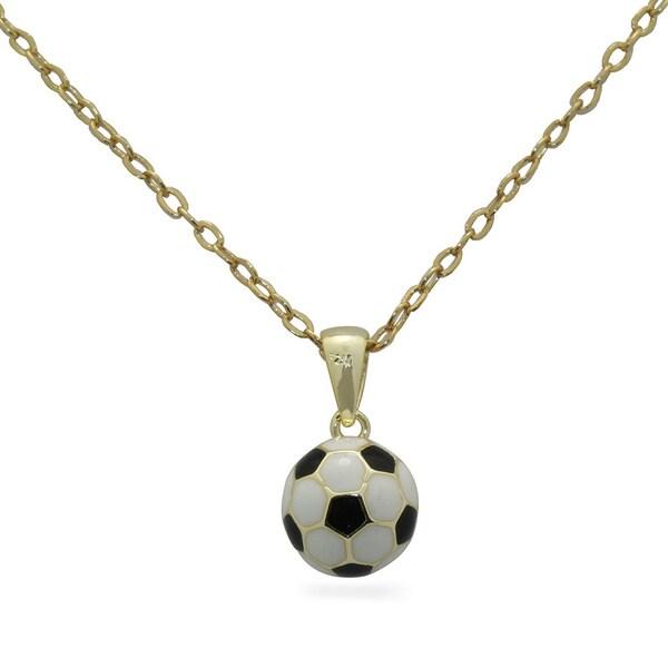 Junior Jewels Enamel Soccer Ball Pendant 14255783