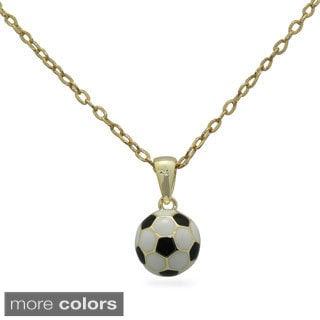 Junior Jewels Enamel Soccer Ball Pendant