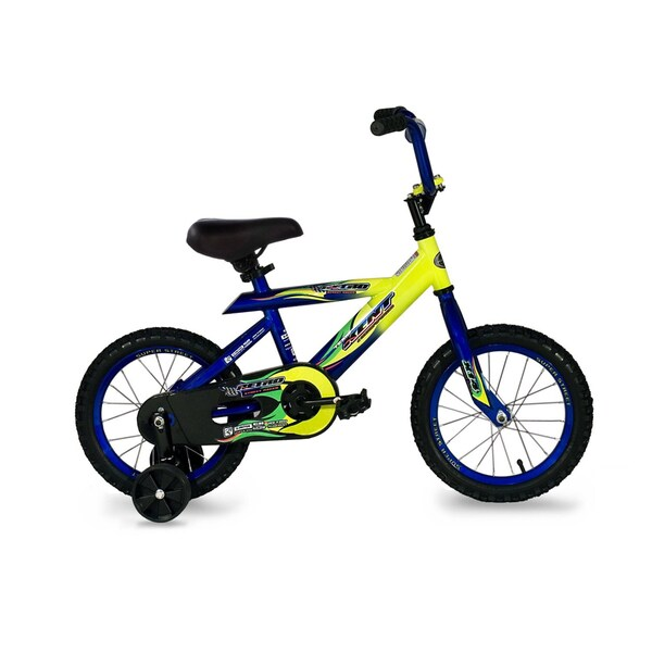 Kent Retro 14-inch Blue/ Yellow Boy's Bike