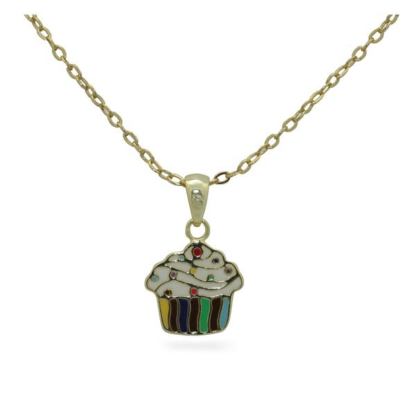 Junior Jewels Enamel Cupcake Pendant