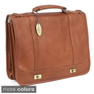Claire Chase Leather Messenger Bag