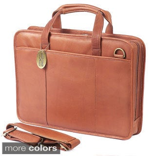 Claire Chase Small Leather File Briefcase