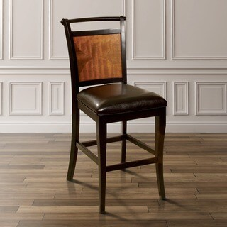 Furniture of America Saldi Acacia Wood and Black Counter Height Chairs (Set of 2)