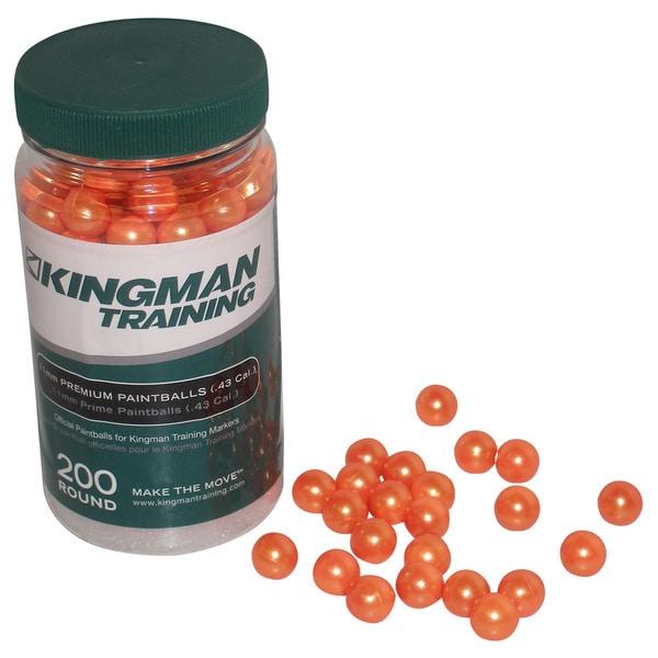 KT Kingman Training Chaser Eraser Gun .43 Caliber 11mm Orange Paintballs (Bottle of 200)