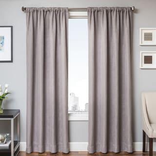 Brandon Faux Linen Rod Pocket Curtain Panel