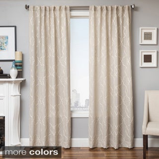 Camay Jacquard Linen Curtain Panel