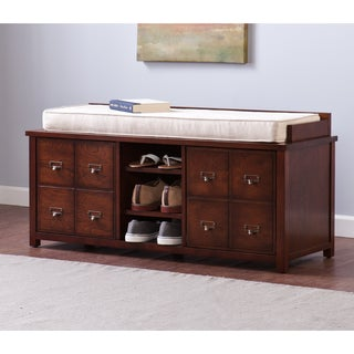 Upton Home Large Apothecary Storage Bench