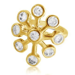 Belcho Fireworks Ring with Cubic Zirconia Studs