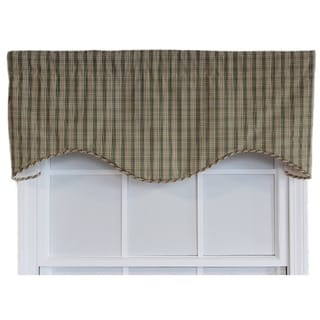 Cactus Plaid Green Cornice Window Valance