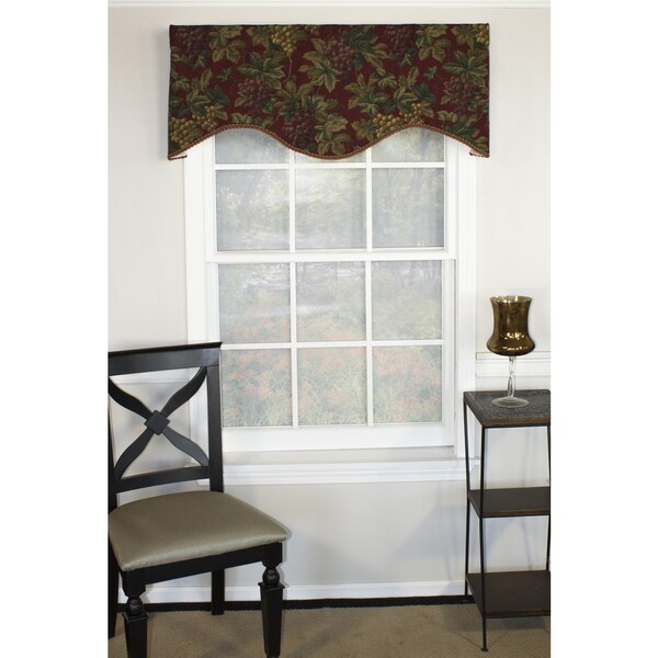 Through the Grapevine Cornice Window Valance