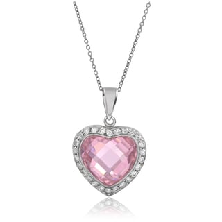 Journee Collection Sterling Silver Cubic Zirconia Heart Pendant