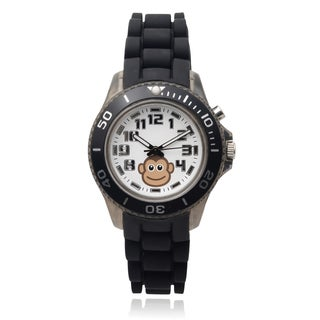 Journee Collection Kids' Monkey Light Up Round Face Silicone Band Watch