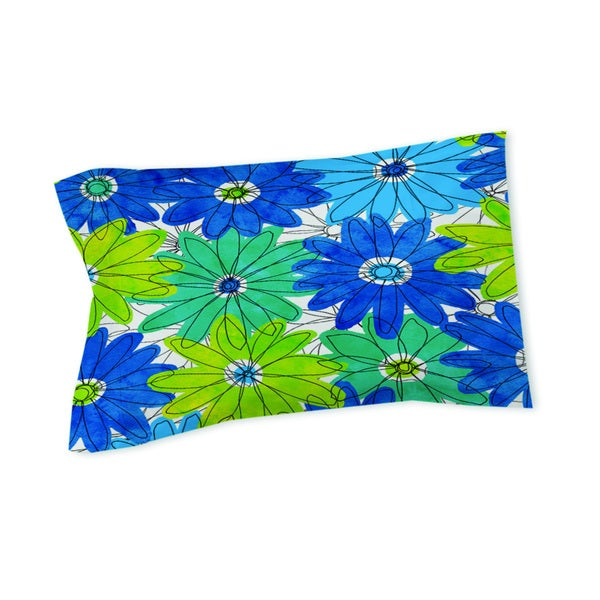 Thumbprintz Funky Florals Daisy Royal Blue - Sham
