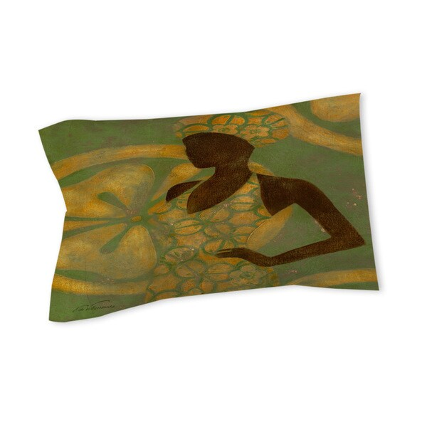 Thumbprintz Ebony Art Green - Sham