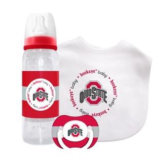 Baby Fanatic NCAA Ohio State Buckeyes 3-piece Baby Gift Set