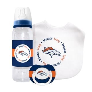 Baby Fanatic NFL Denver Broncos 3-piece Baby Gift Set