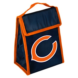 Forever Collectibles Chicago Bears Big Logo Velcro Lunch Bag