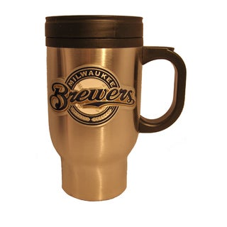 Milwaukee Brewers Stainless Steel Travel Coffee Mug