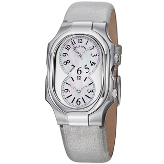 Philip Stein Women's 1-NFMOP-CMBZ 'Signature' Mother Of Pearl Dial Silver Metallic Strap Quartz Watch