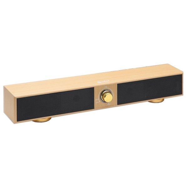 SYBA Multimedia 2.0 Sound Bar Speaker - 5 W RMS - Beige