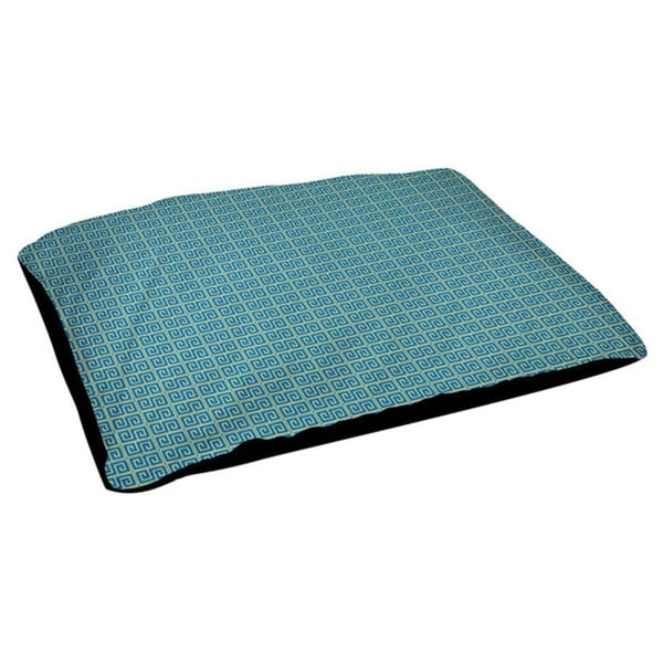 Indoor Geometric Soft Fleece Top 18 x 28-inch Dog Bed