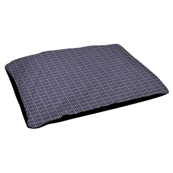 Indoor Fleece Top Geometric 18 x 28-inch Dog Bed