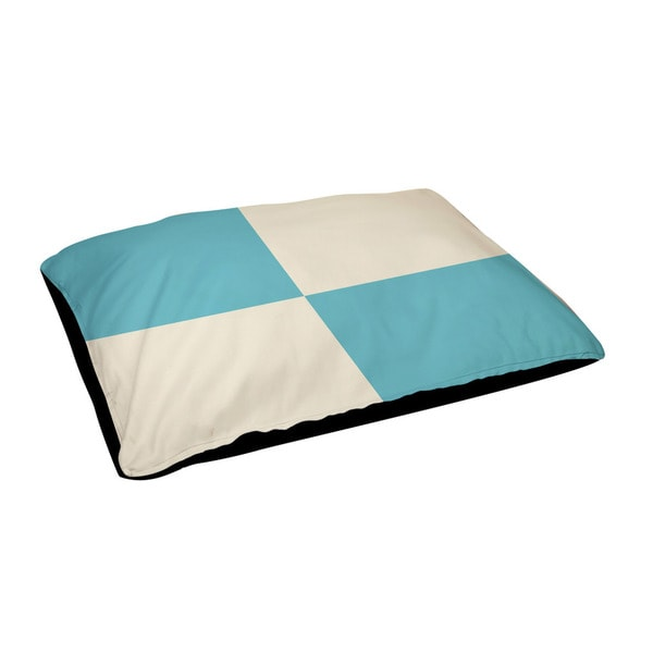 Indoor Checkered Geometric 28 x 48-inch Dog Bed