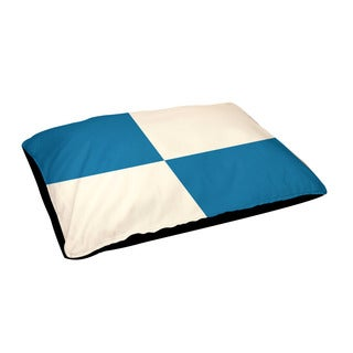 Indoor Geometric Checkered 30 x 40-inch Dog Bed