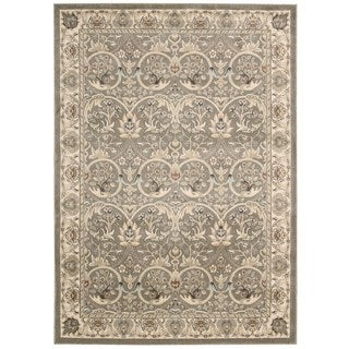 Rug Squared Springfield Grey Oriental Area Rug (9'3 x 12'9)